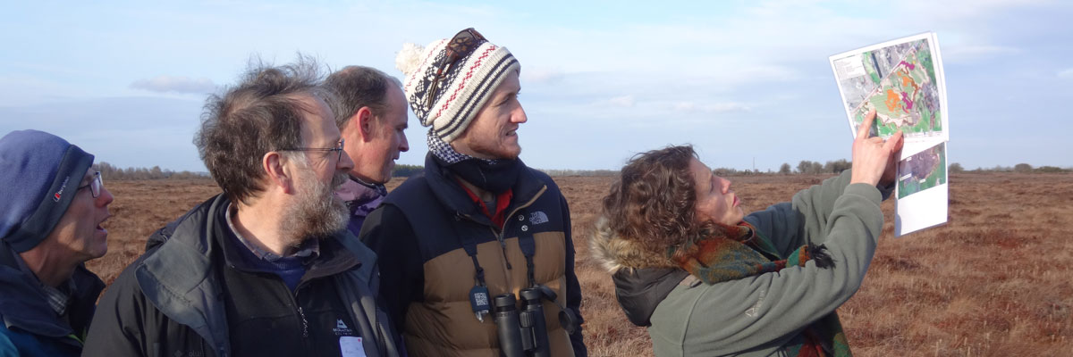 Site visits form an enjoyable part of the review days. Photo courtesy of Irish Peatland Conservation Council.